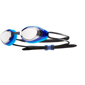 TYR Black Hawk Racing Mirrored Gogle Mężczyźni, silver/blue/black